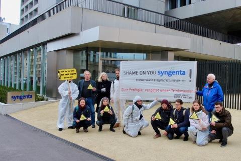 Chlorothalonil Protest vor Syngenta 2