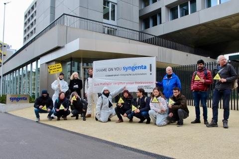 Chlorothalonil Protest vor Syngenta 3